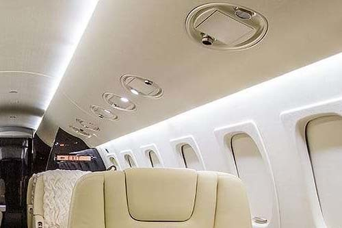 Corporate private jet LED lighting replacement